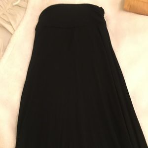 Jersey fabric maxi skirt